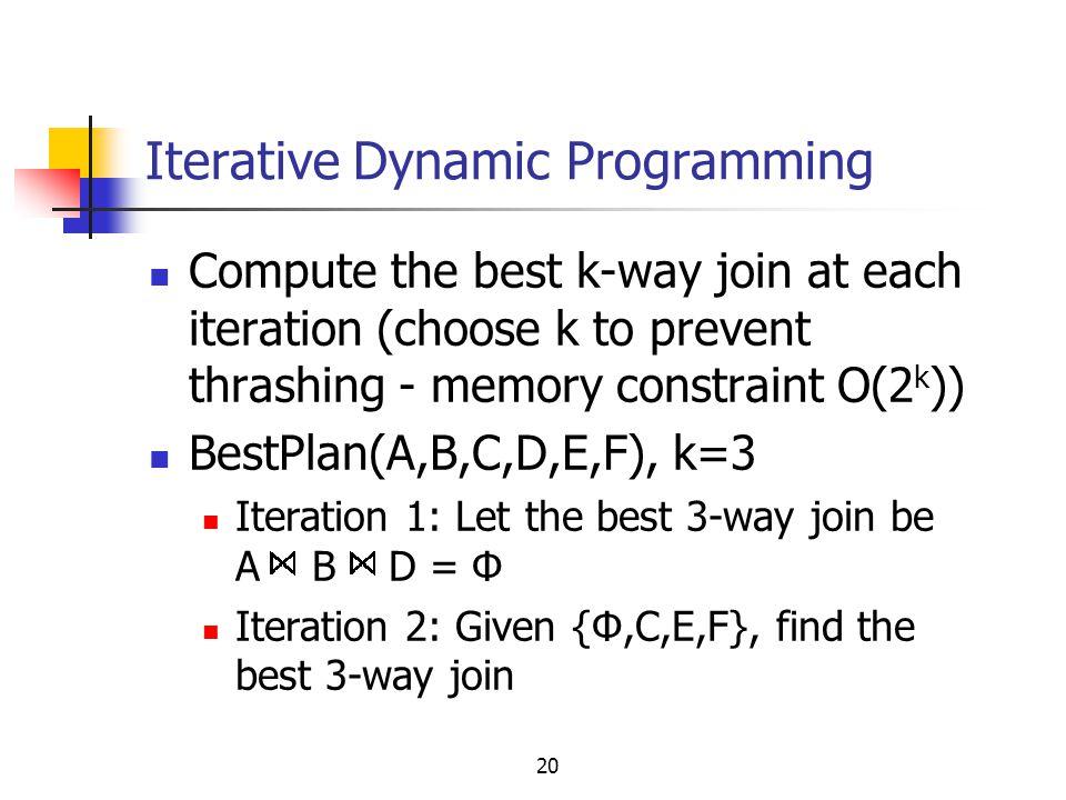 Iterative Dynamic Programming