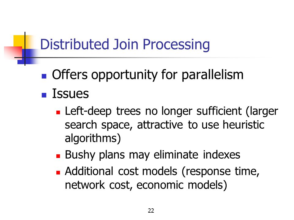 Distributed Join Processing
