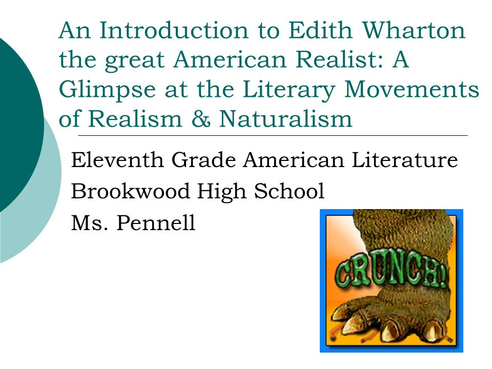 Eleventh Grade American Literature Brookwood High School Ms. Pennell