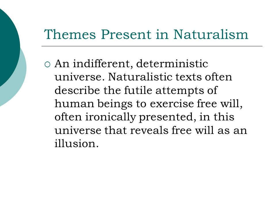 Themes Present in Naturalism