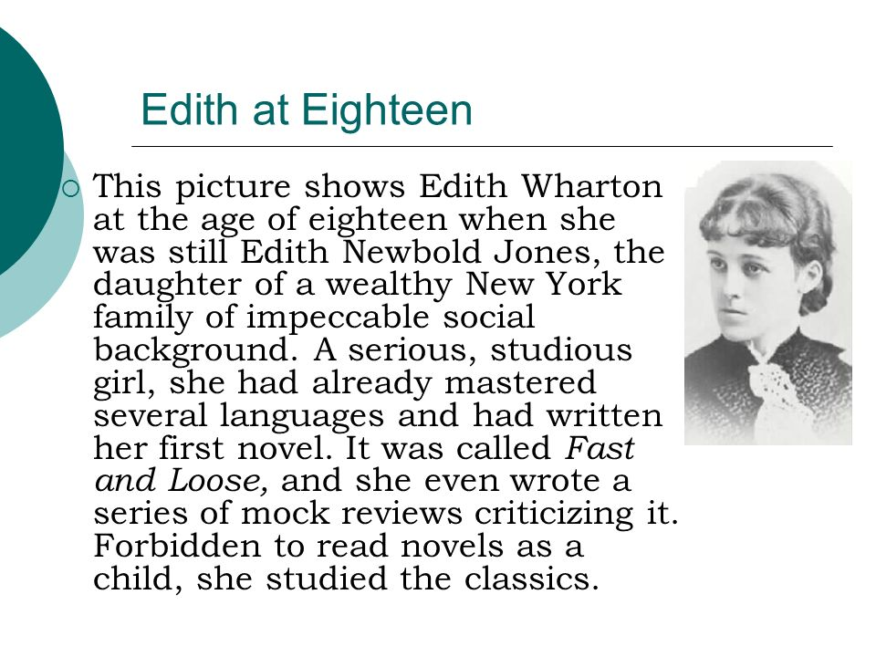 Edith at Eighteen