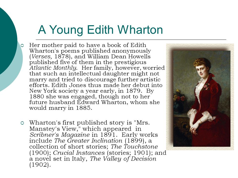 A Young Edith Wharton