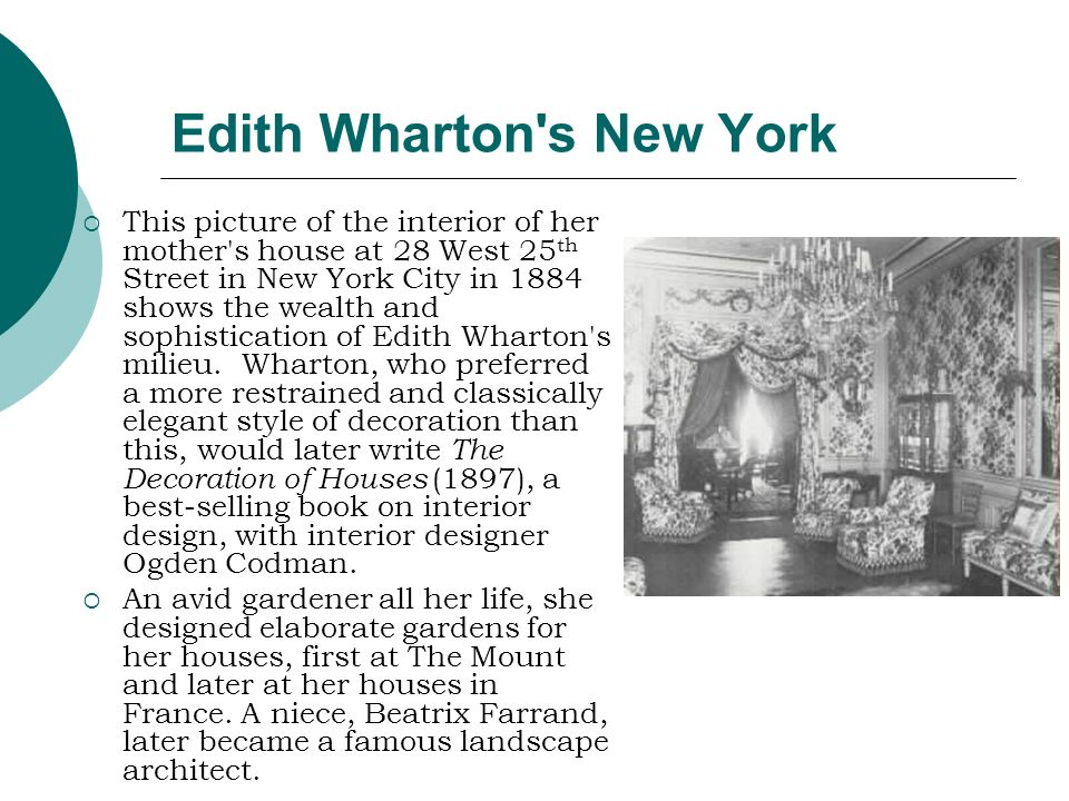 Edith Wharton s New York