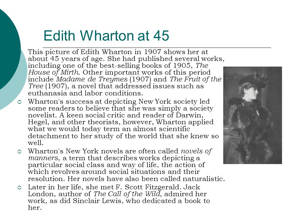Edith Wharton at 45