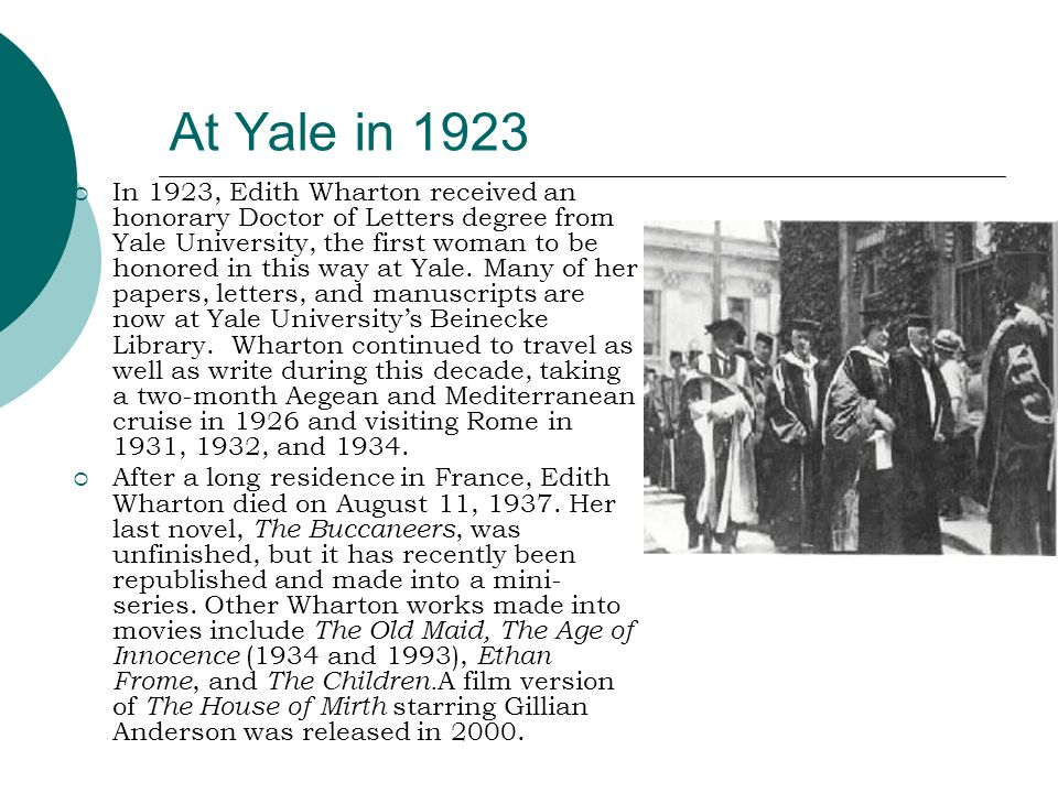 At Yale in 1923