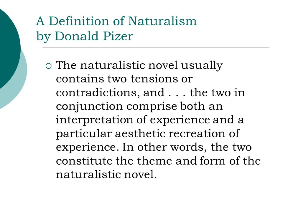 A Definition of Naturalism by Donald Pizer