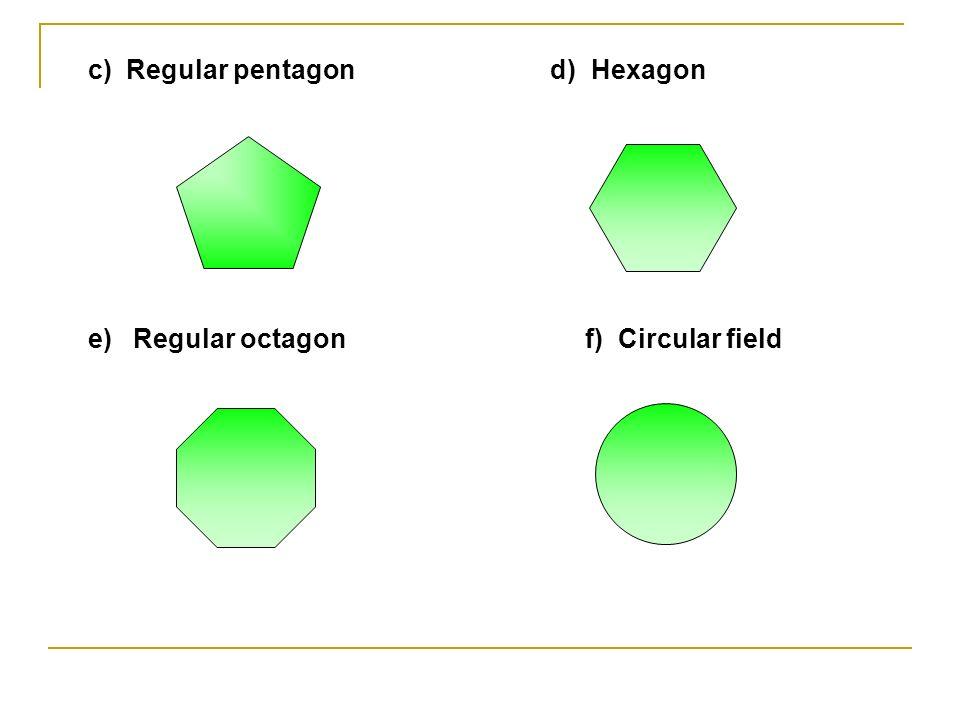 c) Regular pentagon d) Hexagon