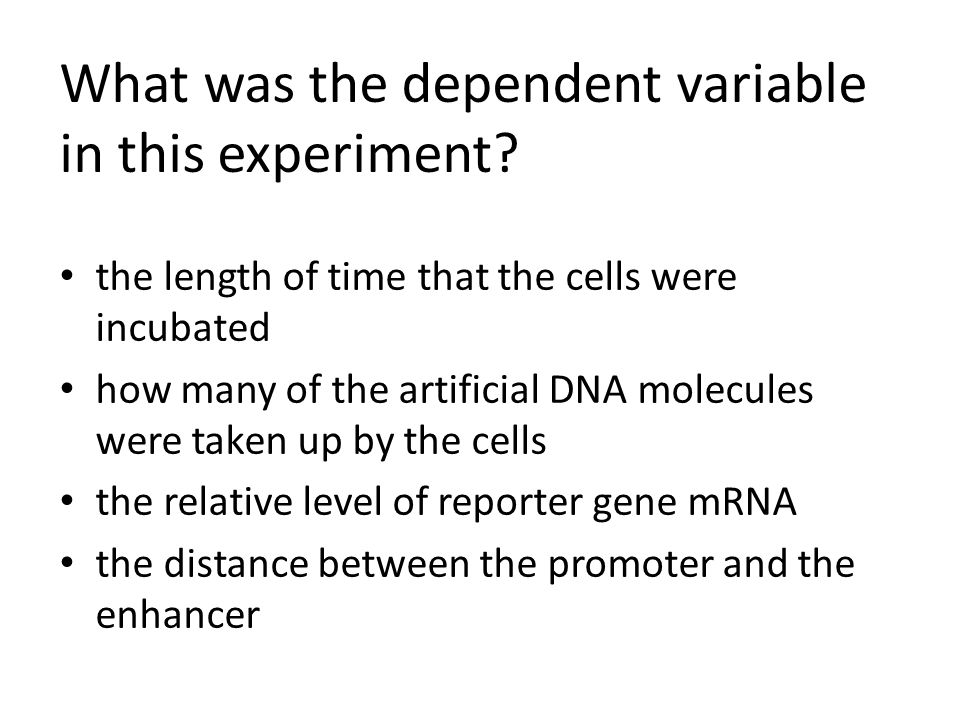 What was the dependent variable in this experiment