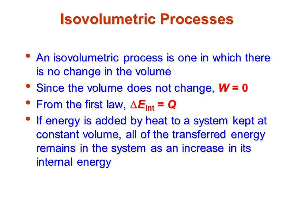 Isovolumetric Processes