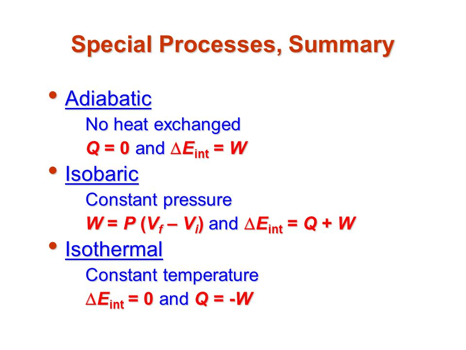 Special Processes, Summary