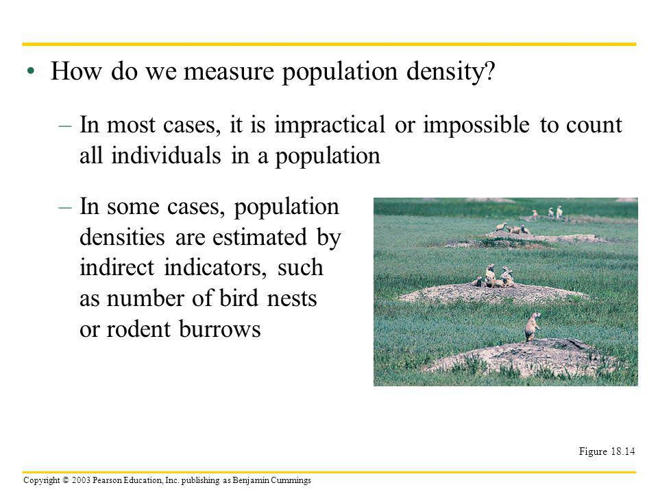 How do we measure population density