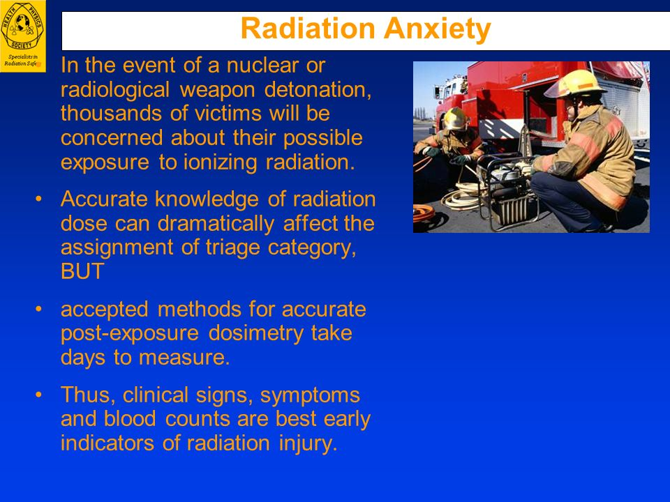 Radiation Anxiety