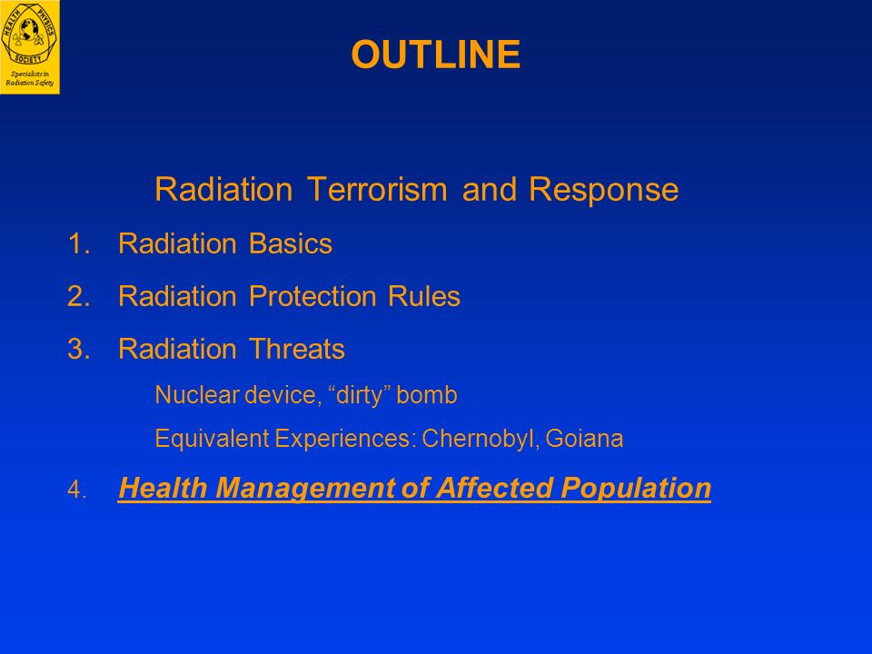 Radiation Terrorism and Response