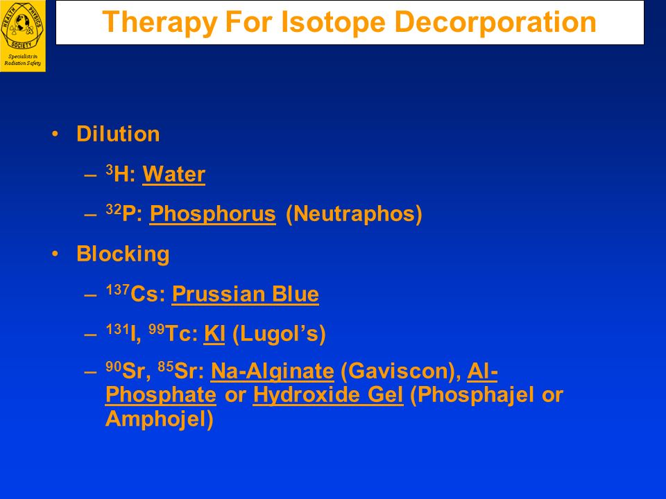 Therapy For Isotope Decorporation