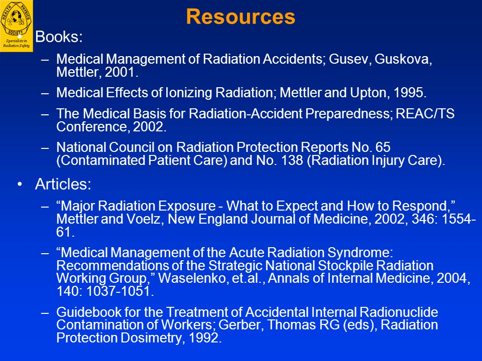Resources Books: Articles: