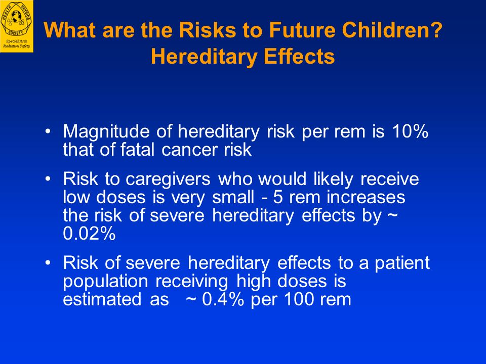 What are the Risks to Future Children Hereditary Effects