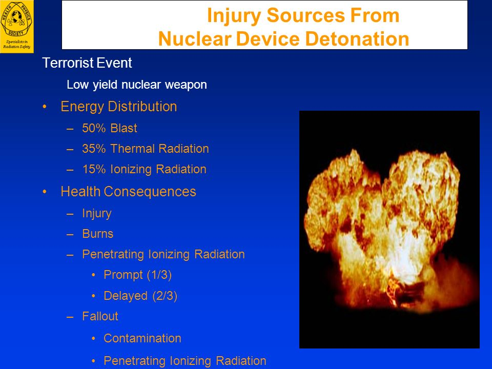 Injury Sources From Nuclear Device Detonation