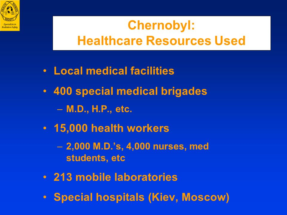 Chernobyl: Healthcare Resources Used