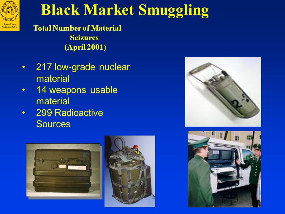 Black Market Smuggling Total Number of Material Seizures (April 2001)