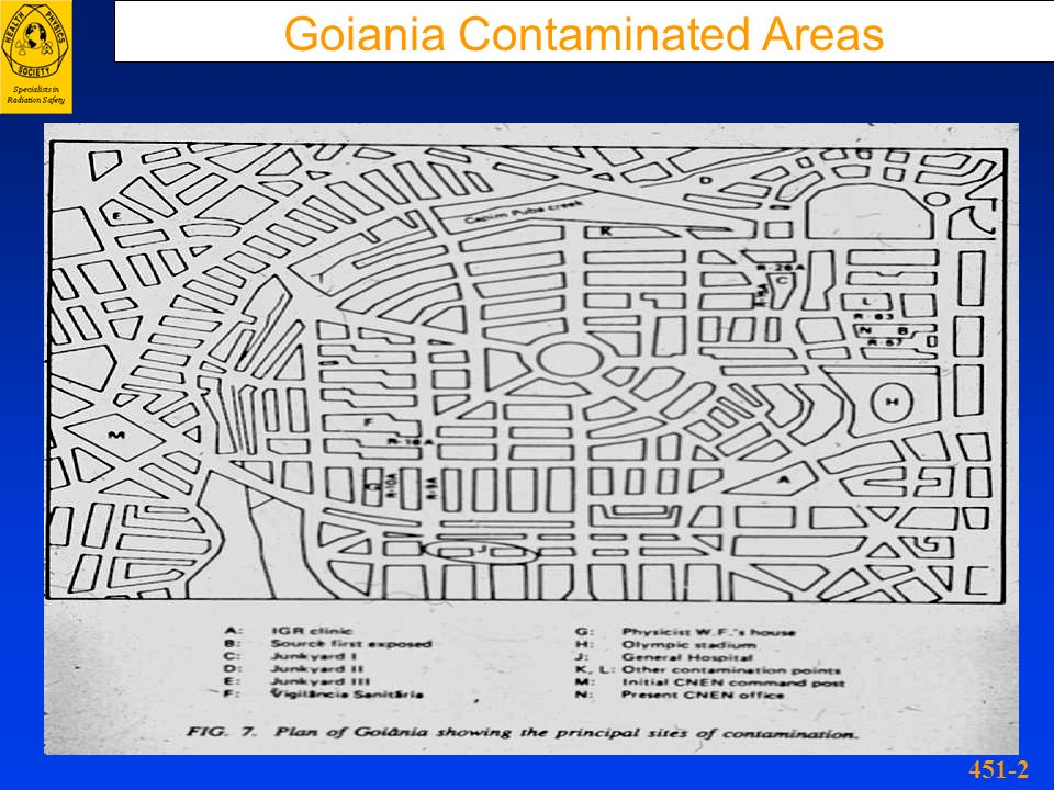 Goiania Contaminated Areas