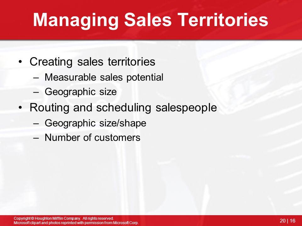 Managing Sales Territories
