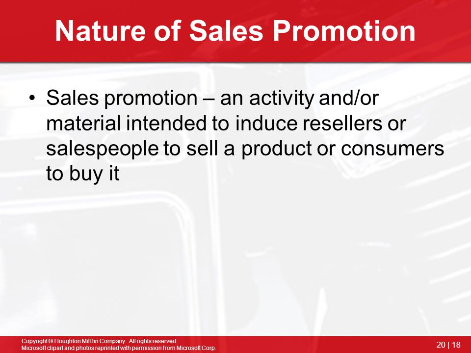 Nature of Sales Promotion