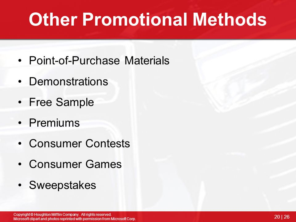 Other Promotional Methods
