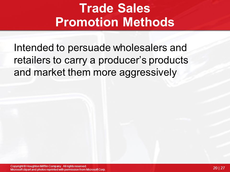 Trade Sales Promotion Methods
