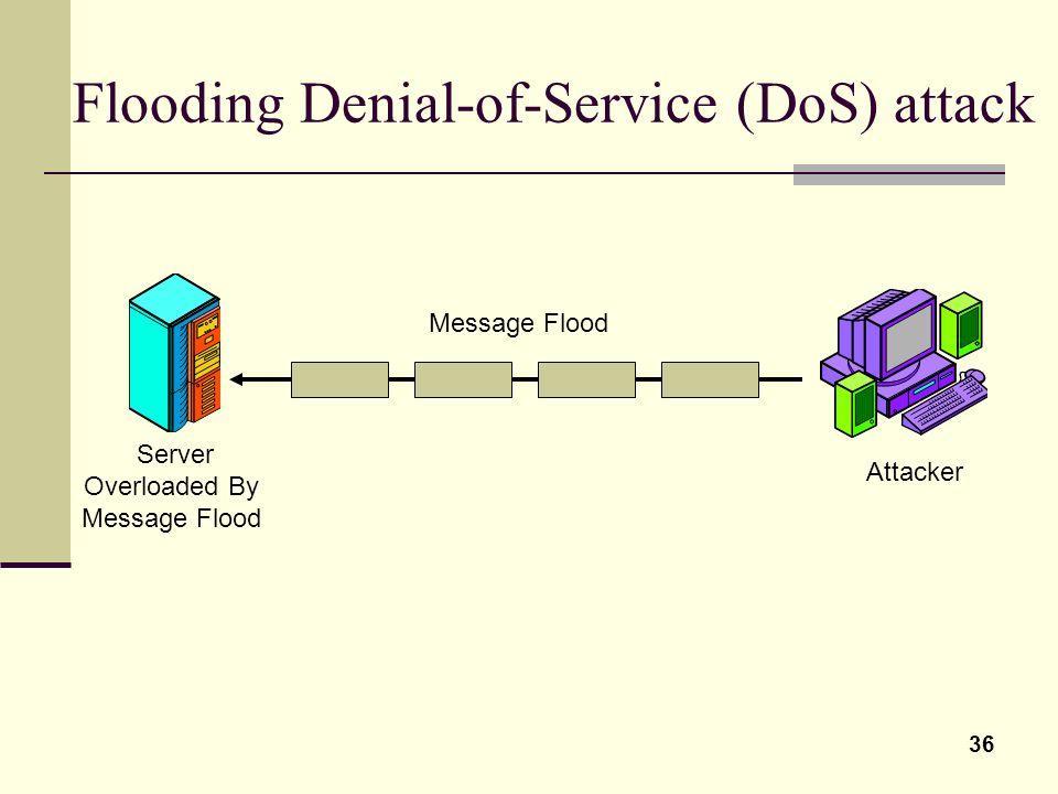 Flooding Denial-of-Service (DoS) attack