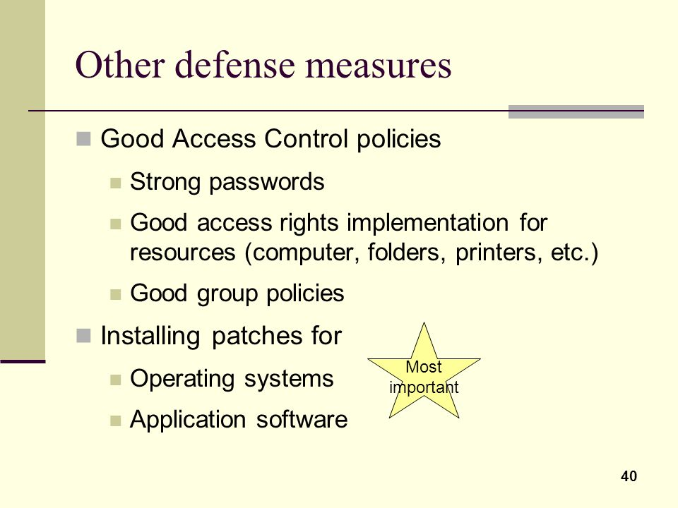 Other defense measures