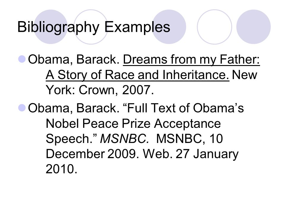 simple bibliography