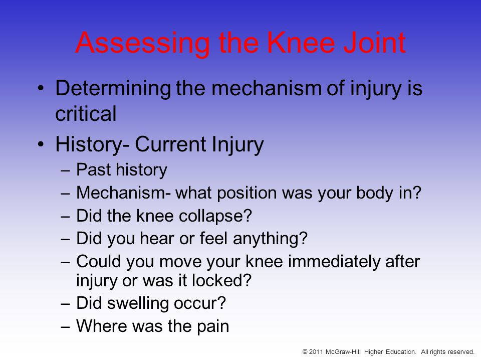 Assessing the Knee Joint