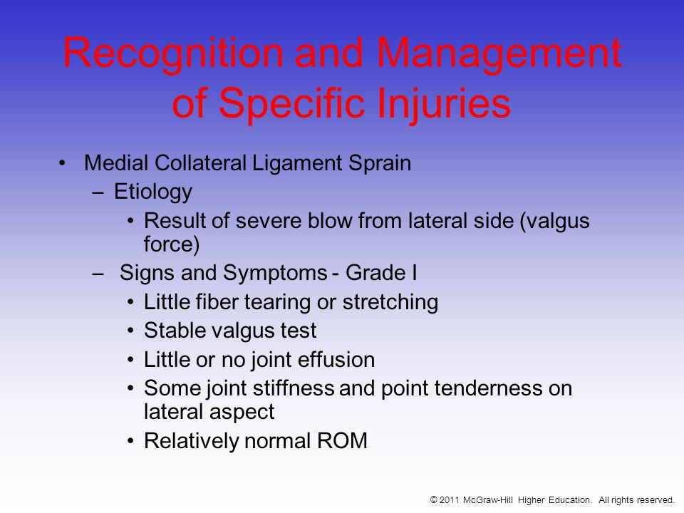Recognition and Management of Specific Injuries