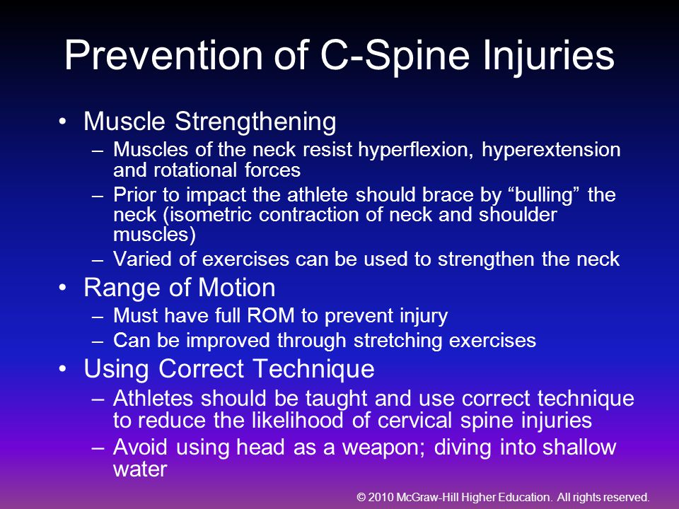Prevention of C-Spine Injuries