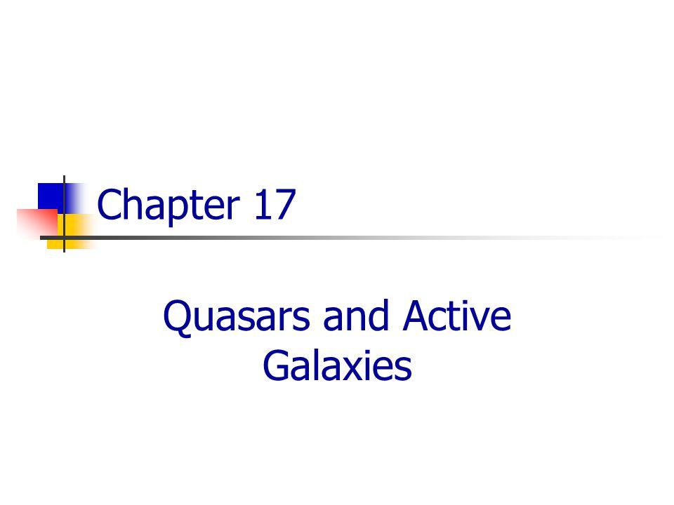 Quasars and Active Galaxies