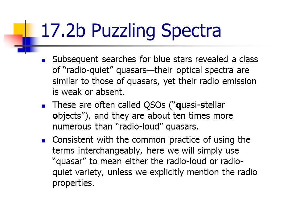 17.2b Puzzling Spectra