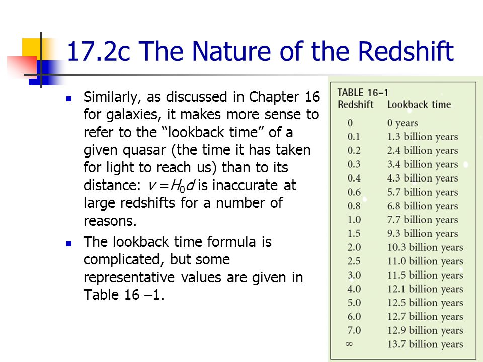 17.2c The Nature of the Redshift