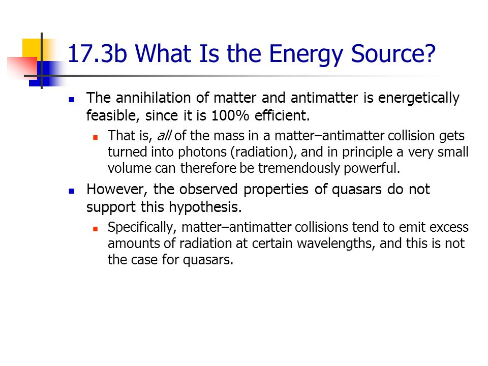 17.3b What Is the Energy Source