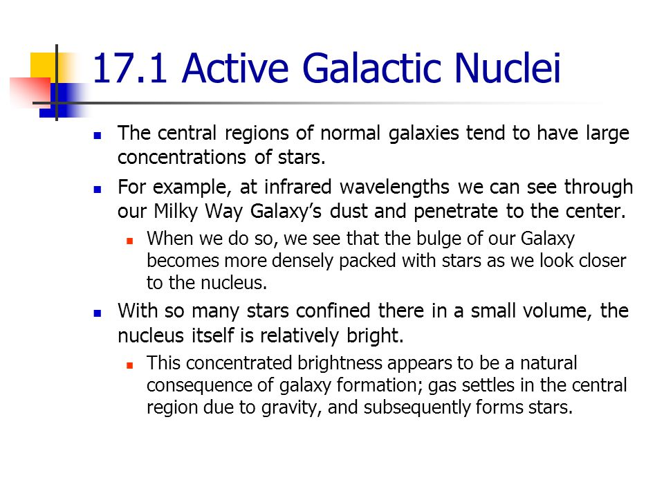 17.1 Active Galactic Nuclei