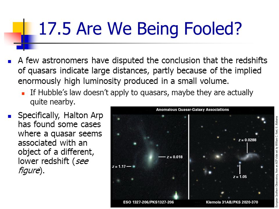 17.5 Are We Being Fooled