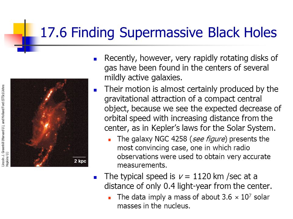 17.6 Finding Supermassive Black Holes