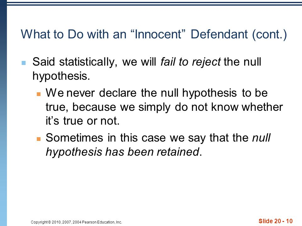 What to Do with an Innocent Defendant (cont.)