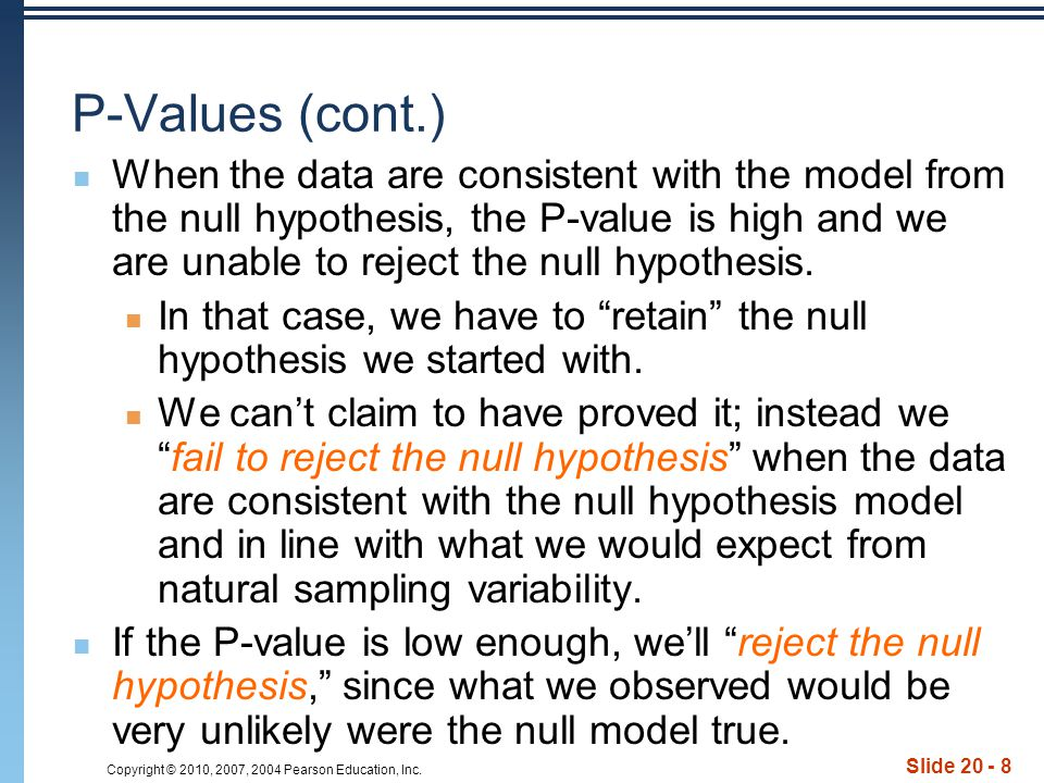 P-Values (cont.)