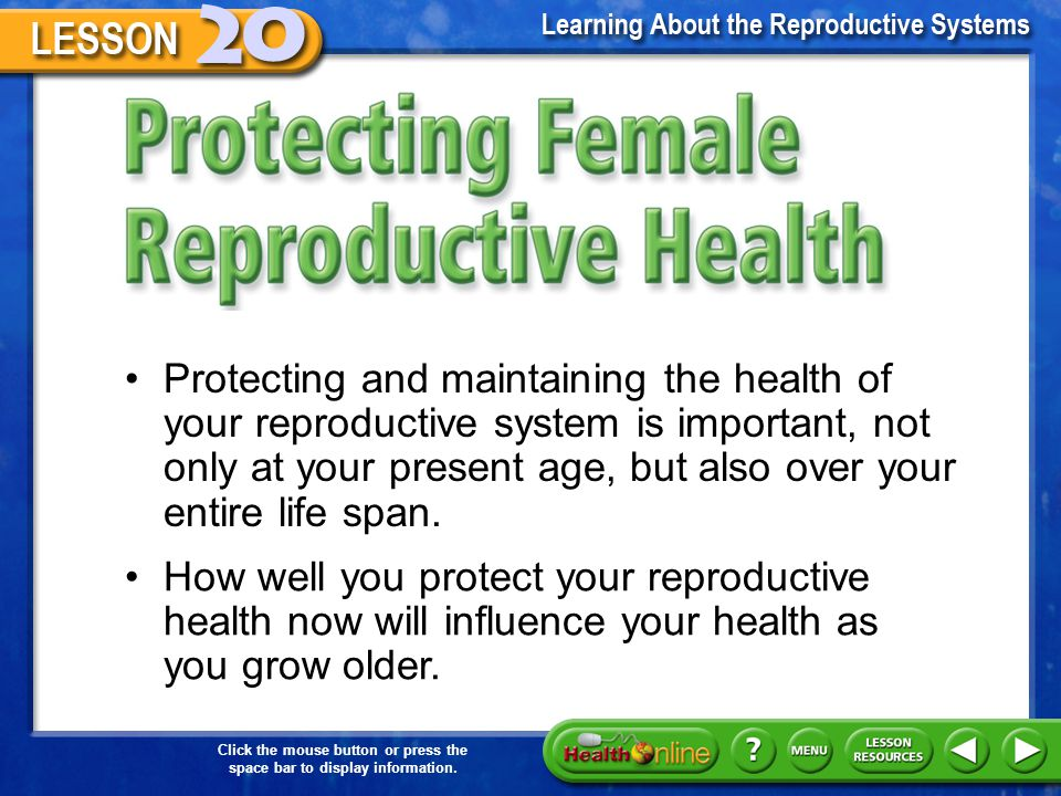 Protecting Female Reproductive Health