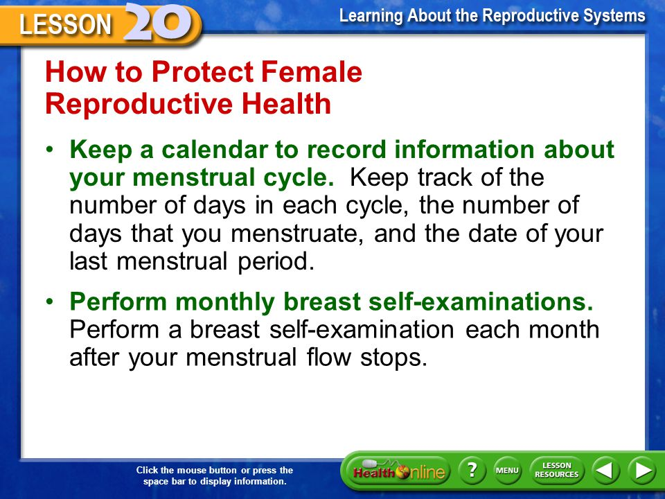 How to Protect Female Reproductive Health