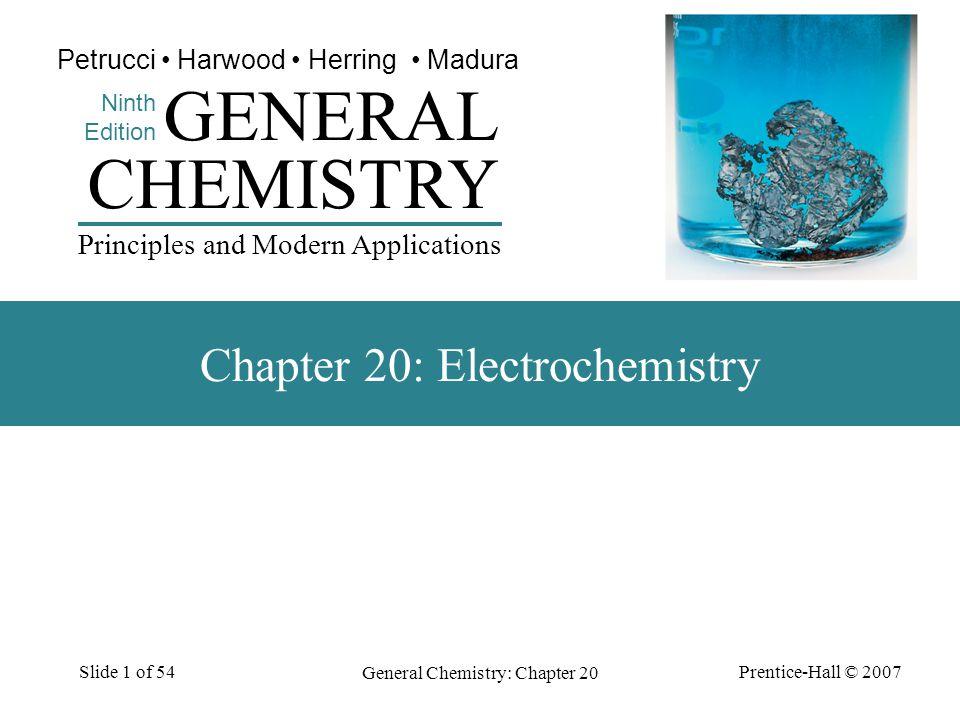 Chapter 20: Electrochemistry