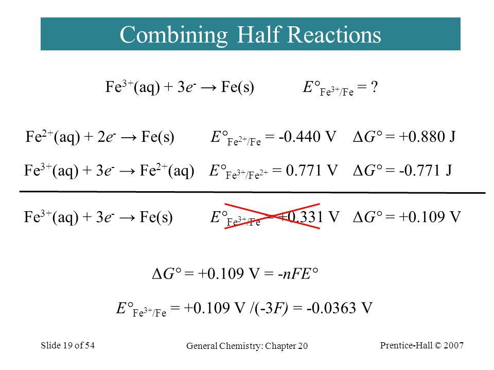 Combining Half Reactions