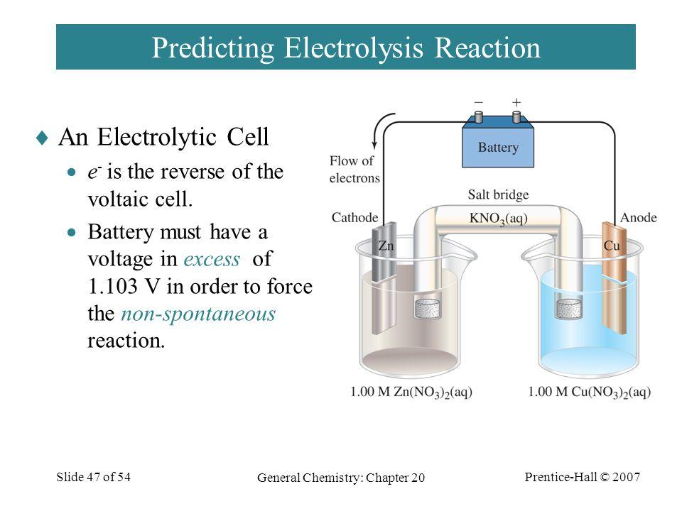 Predicting Electrolysis Reaction