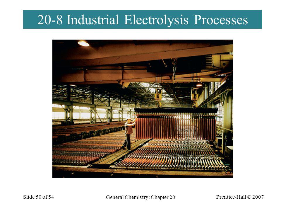 20-8 Industrial Electrolysis Processes