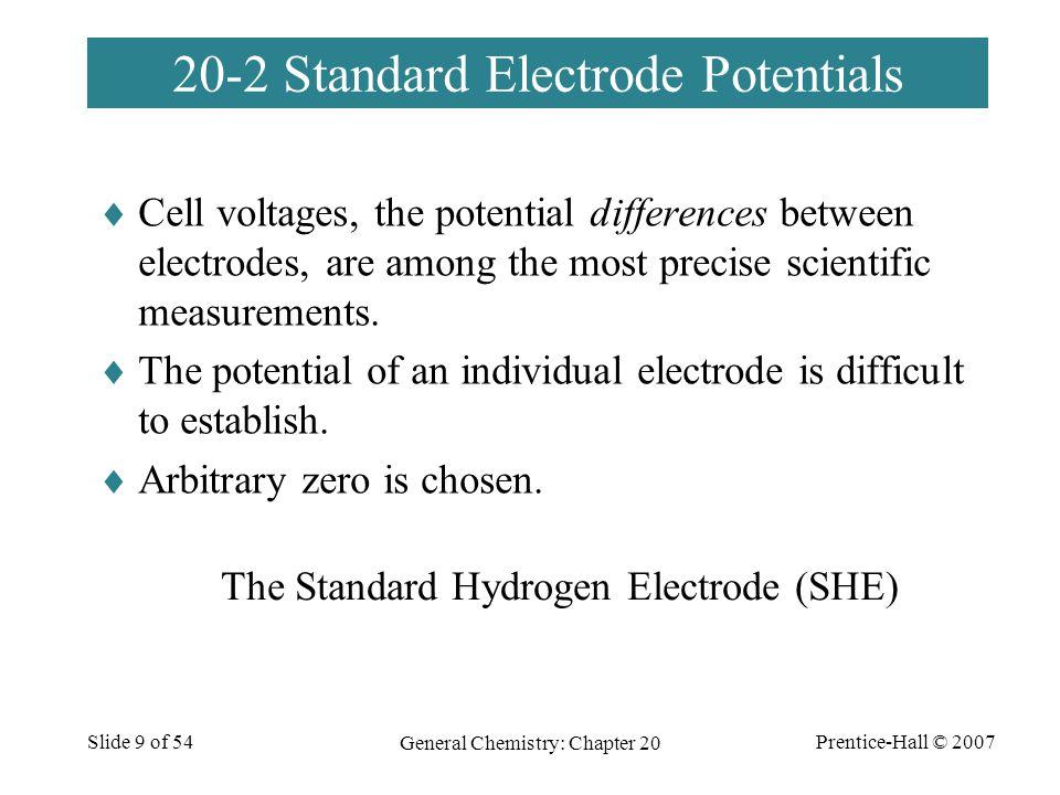 20-2 Standard Electrode Potentials